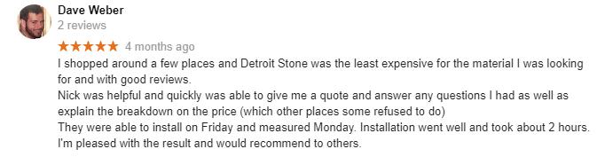 Review Google Detroit Stone